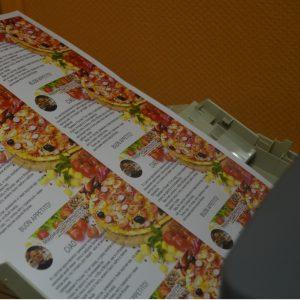 Пример листовок для пиццерии